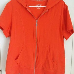 Style & Co. Woman Sport Short Sleeved Hoodie 1X